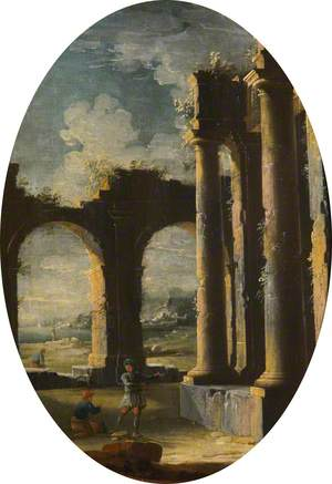 Capriccio of Classical Ruins with Labourers