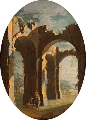 Capriccio of Classical Ruins with Beggars