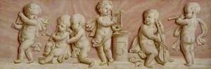 Putti with Symbols of Music