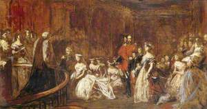 The Marriage of the Princess Victoria Adelaide (1840–1901), Princess Royal, Later Empress of Prussia, to Crown Prince Frederick William of Prussia (1831–1888), Later Emperor Frederick III, Emperor of Germany and King of Prussia, on 25 January 1858