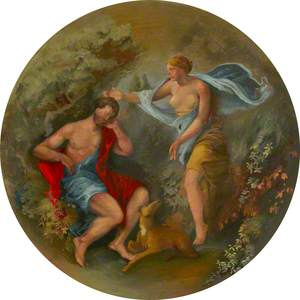 Ceiling Roundel: Diana and Endymion