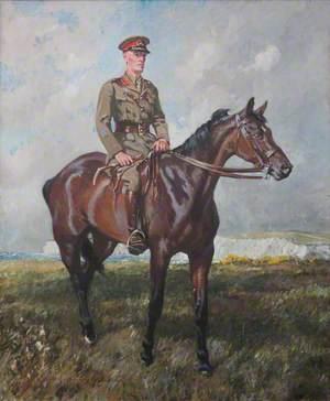 General Jack Seely (1868–1947), 1st Baron Mottistone, on His Horse, 'Warrior' (1908–1941)