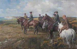 The Seely Family on Horseback