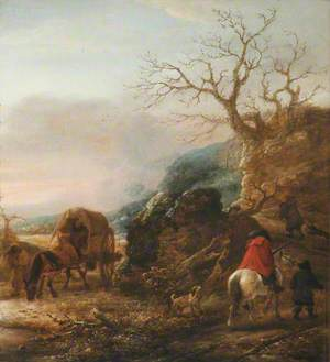Landscape with a Horseman and a Cart