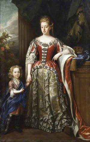 Lady Elizabeth Percy (1667–1722), Duchess of Somerset, and Her Son, Algernon Seymour (1684–1750), Earl of Hertford, Later 7th Duke of Somerset