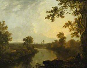 View on the River Dee, near Eaton, Cheshire