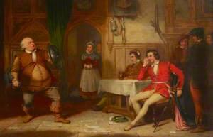 Falstaff Relating His Gadshill Adventure at the Boar's Head