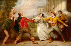 The Duel between Sir Toby and Sebastian