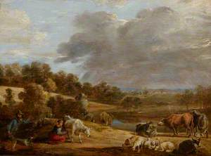 A Landscape with a Woman Milking