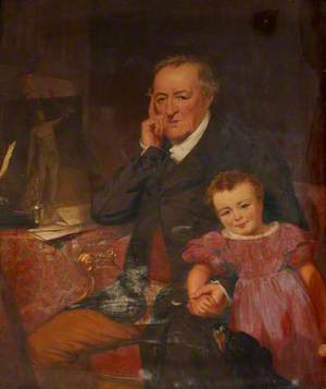 George O'Brien Wyndham (1751–1837), 3rd Earl of Egremont, and His Granddaughter the Honourable Caroline Sophia Wyndham (1829–1852), Later Mrs Kingscote