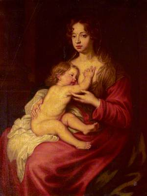 Lady Elizabeth Percy (1667–1722), Countess of Ogle, Later Duchess of Somerset, and Algernon (1684–1750) , Later 7th Duke of Somerset, as 'Madonna and Child'