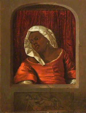 Head of a Negress in a Simulated Opening