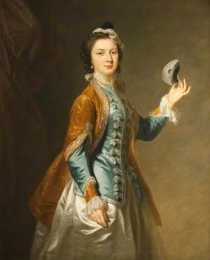 Eva Maria Veigel, Mrs David Garrick (1724–1822), with a Mask