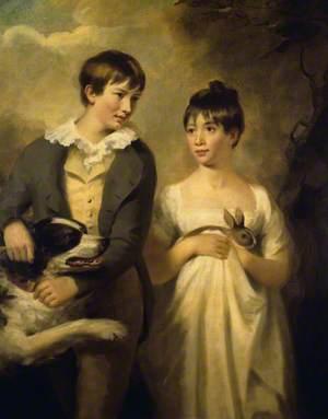 The Children of Professor Dugald Stewart: George (d.1809), and Maria (d.1846), as Children