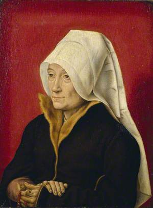 Portrait of an Old Woman Holding Her Prayer Book
