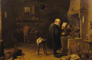 The Alchemist in His Laboratory