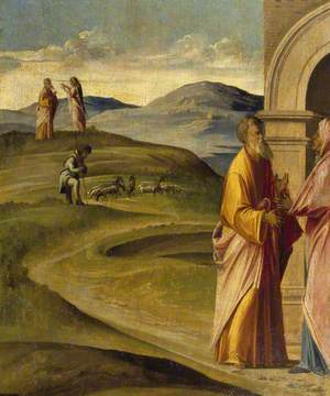 The Angel Announcing the Conception of the Virgin to Joachim, and The Meeting of Joachim and Anna at the Golden Gate