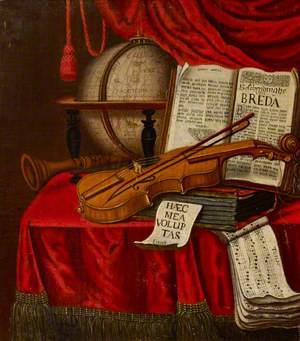 Vanitas Still Life of Musical Instruments