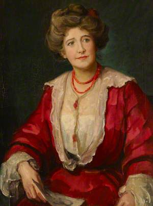 Dame Ellen Terry (1847–1928), in 'Alice-sit-by-the-Fire' (1905), by J. M. Barrie