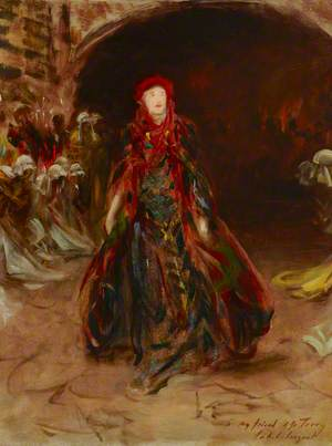 A Sketch of Dame Ellen Terry (1847–1928), as Lady Macbeth in William Shakespeare's 'Macbeth'