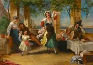 Neapolitans Dancing the Tarantella