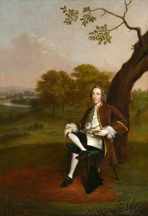 Portrait of a Gentleman Sitting under a Tree
