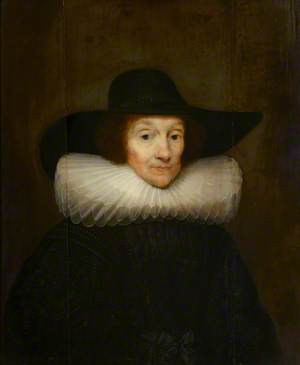 Portrait of an Old Woman in a Cartwheel Ruff and Black Hat