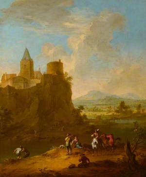 A Landscape with a Castle on a Hill