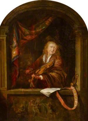 A Fiddler at an Opening