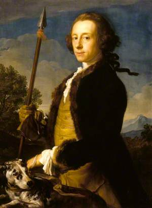 Sir Matthew Fetherstonhaugh (1714–1774), 1st Bt, MP, as a Hunter with a Wild Boar Spear