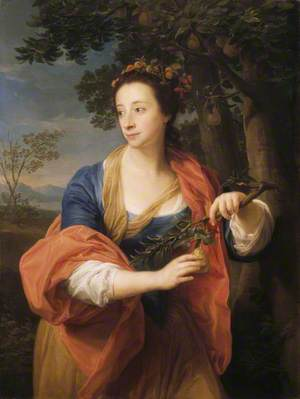 Sarah Lethieullier (1722–1788), Lady Fetherstonhaugh, with the Branch of a Pear Tree