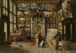 A Picture Gallery with Fashionable Visitors