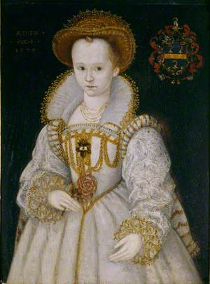 Chrysogona Baker (1572/1573–1616), Lady Dacre, as a Child of Six