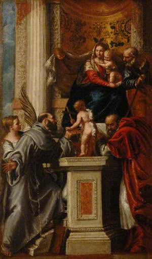 The Holy Family with the Infant Saint John and Saint Justina, Saint Francis and Saint Jerome