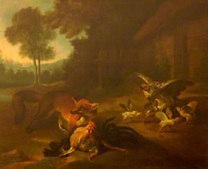 A Fox in the Farmyard
