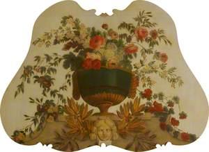 Overdoor with Flowers in a Vase