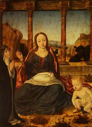 Madonna Sewing with Saint Catherine of Siena and the Christ Child