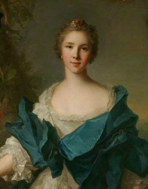 A Woman with a Blue Mantle