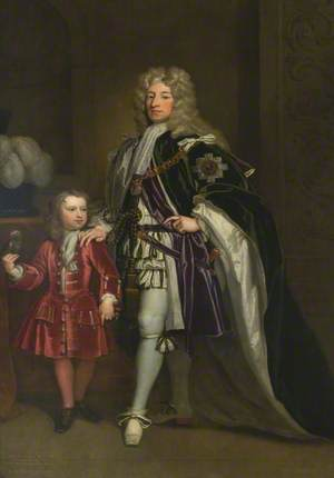 John Erskine, 6th Earl of Mar (1672–1732), with His Son Thomas, Lord Erskine (1705–1766)