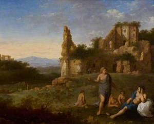 Nymphs near a Ruin