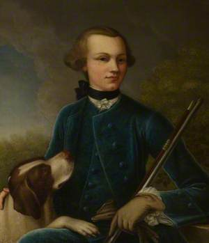 Portrait of a Young Man with a Dog