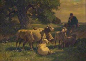 A Shepherd Boy and Sheep