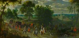 Landscape with Members of the House of Orange Returning from a Hunt