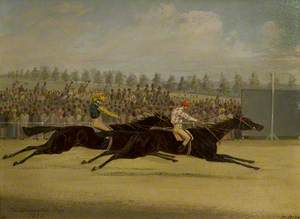 The Doncaster Cup, 1858, with 'Voltigeur' and 'The Flying Dutchman'