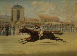 The Dead Heat for the Doncaster St Leger, with 'Voltigeur' and 'Russborough'