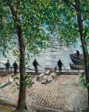 Fishermen on the Seine