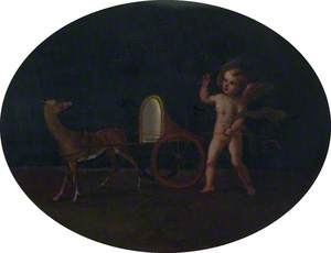Putto beside a Chariot and Deer