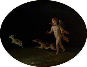 Putto with a Hound Chasing a Hare