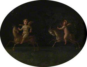 Putto Riding Goats