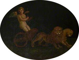 Putto in a Chariot Drawn by Two Lions